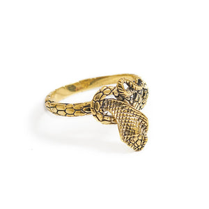 Load image into Gallery viewer, Ring King Cobra Gold