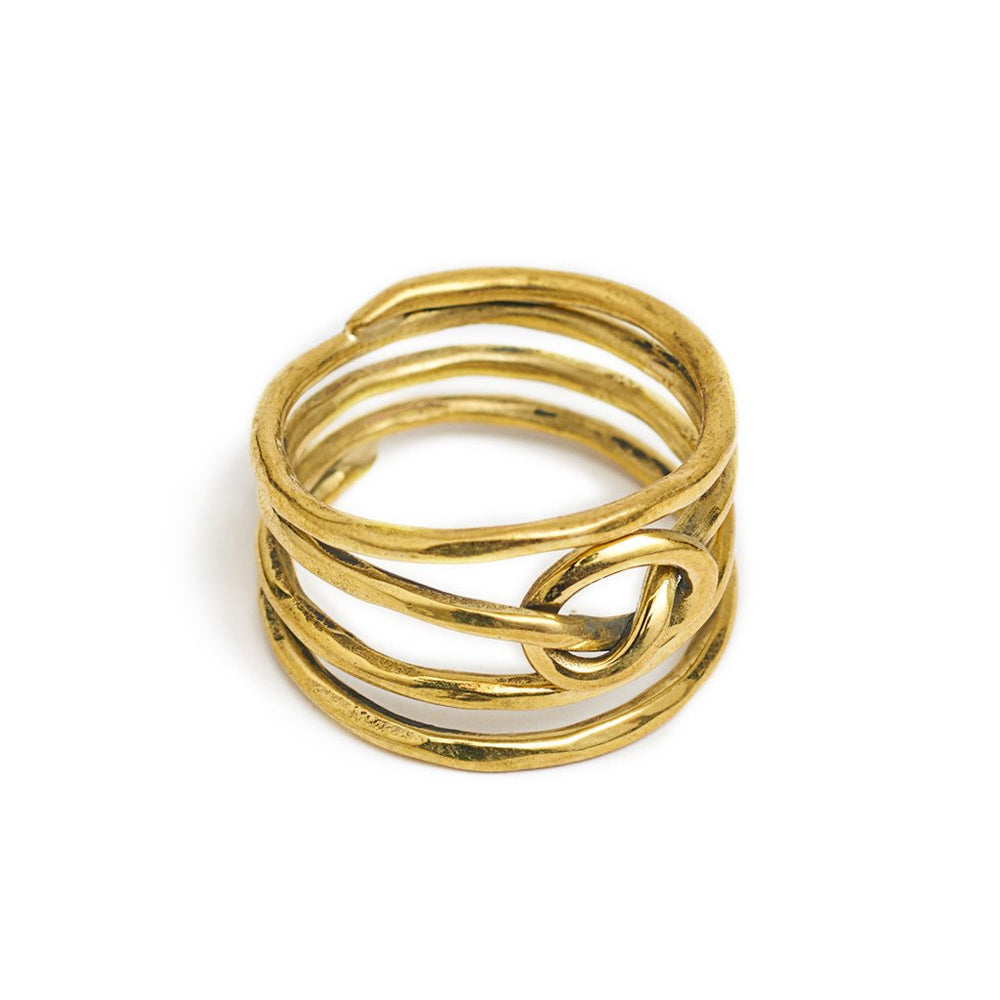Load image into Gallery viewer, Ring Knot 4 Line Gold