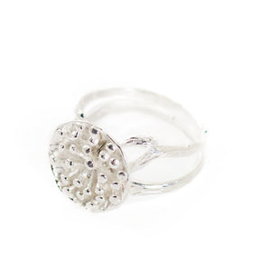 Load image into Gallery viewer, Ring Lotus Seeds Big Silver