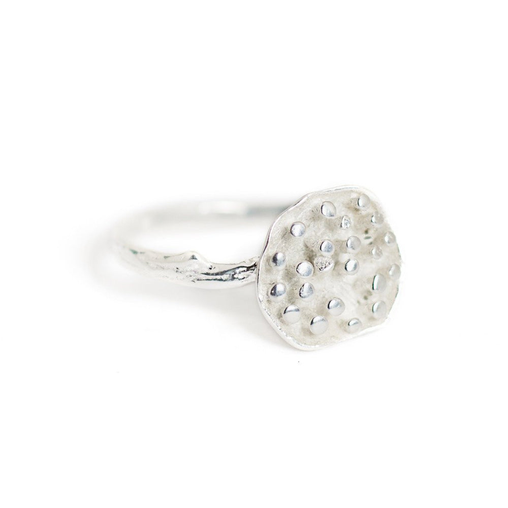 Ring Lotus Seeds Silver