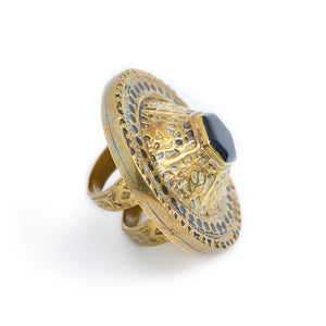 Load image into Gallery viewer, Ring Tibetan Round Black