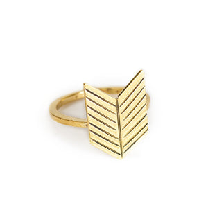 Load image into Gallery viewer, Ring boho arrow gold