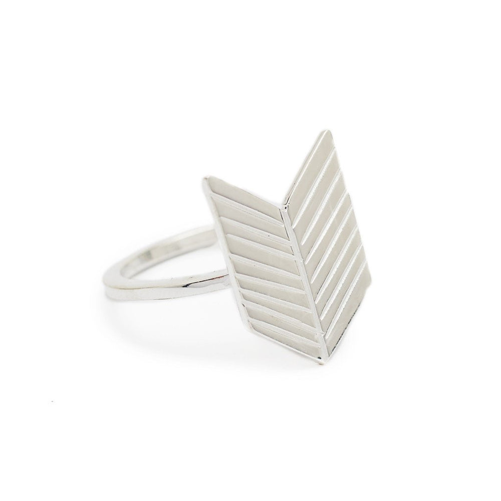 Load image into Gallery viewer, Ring boho arrow silver