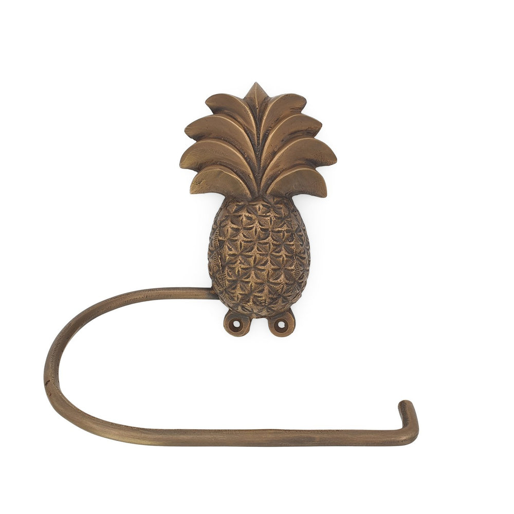 Brass Tissue Holder Pineapple antique gold
