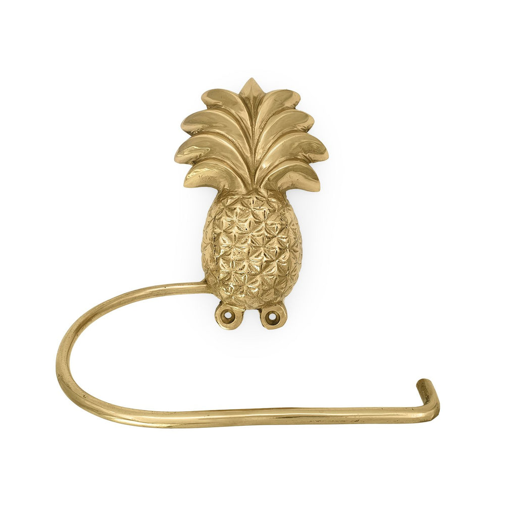 Brass Tissue Holder Pineapple gold