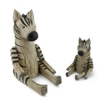 Wooden Animal Zebra big and small