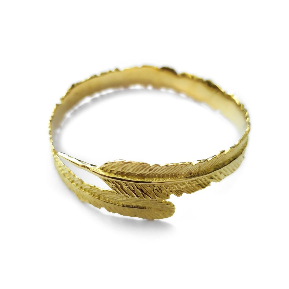 Load image into Gallery viewer, Bracelet Feather Bangle