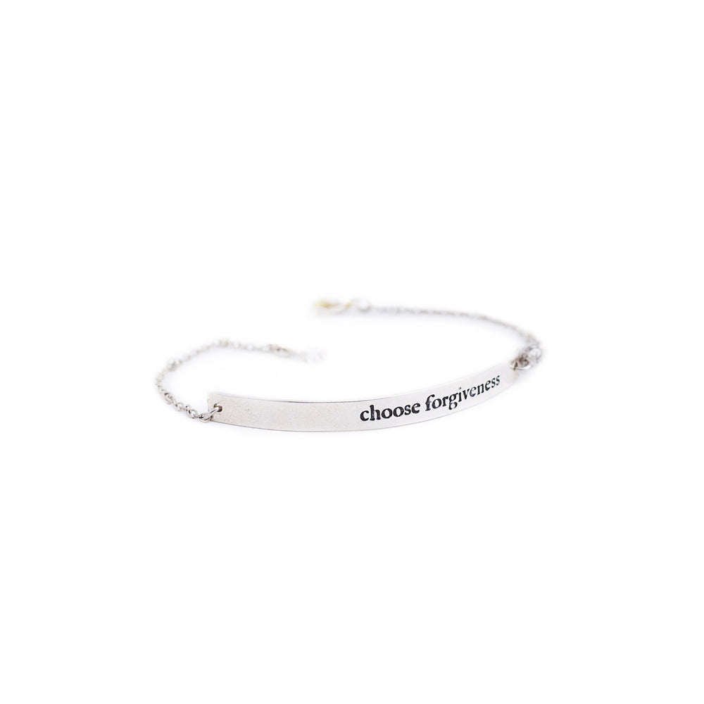 Load image into Gallery viewer, bracelet brass quote silver 2