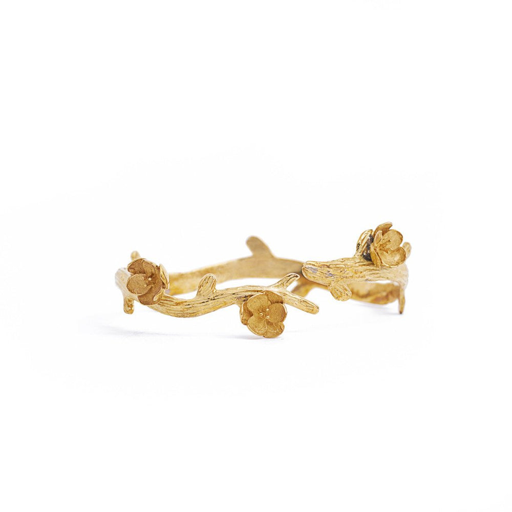 bracelet cherry flower branch gold