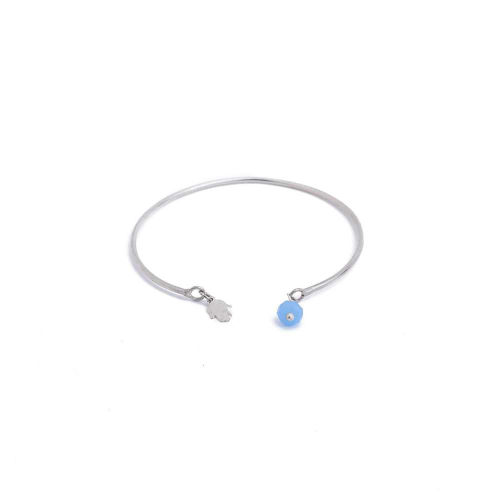 Load image into Gallery viewer, bracelet wire charm hand stone silver