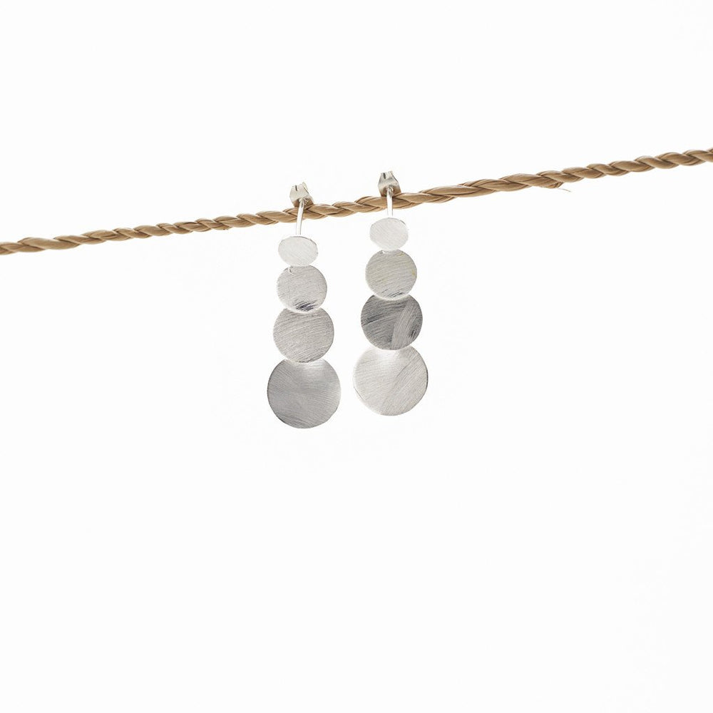 Load image into Gallery viewer, earring 4 round silver plated