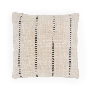 Load image into Gallery viewer, white hand embroidery cotton pillow lines