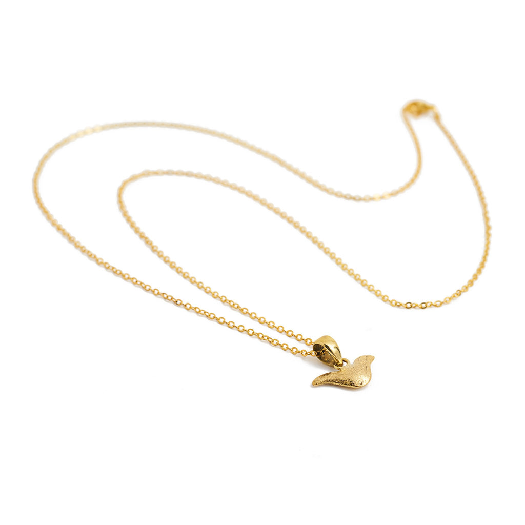 necklace animal charm bird gold