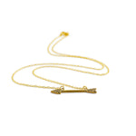 necklace boho arrow gold