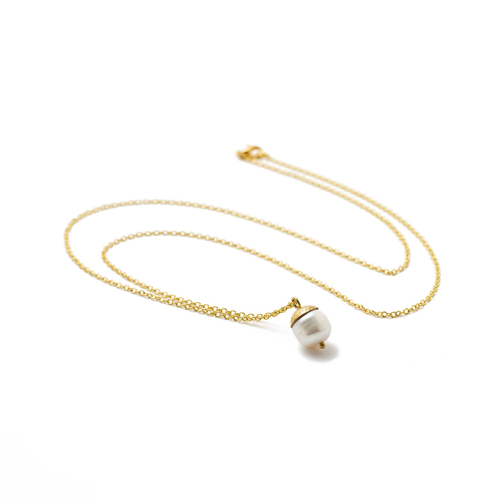 necklace white pearl nut