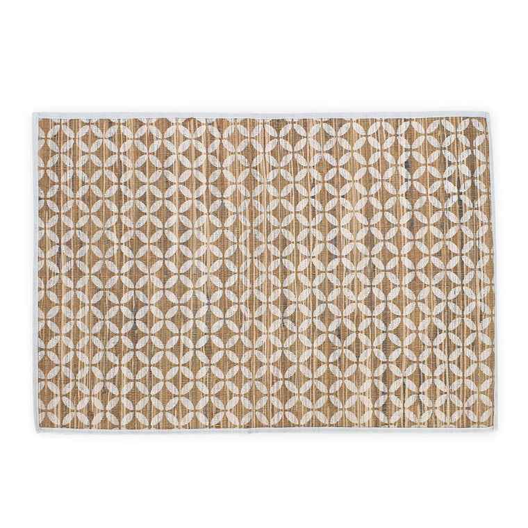 placemat natural white batik coin