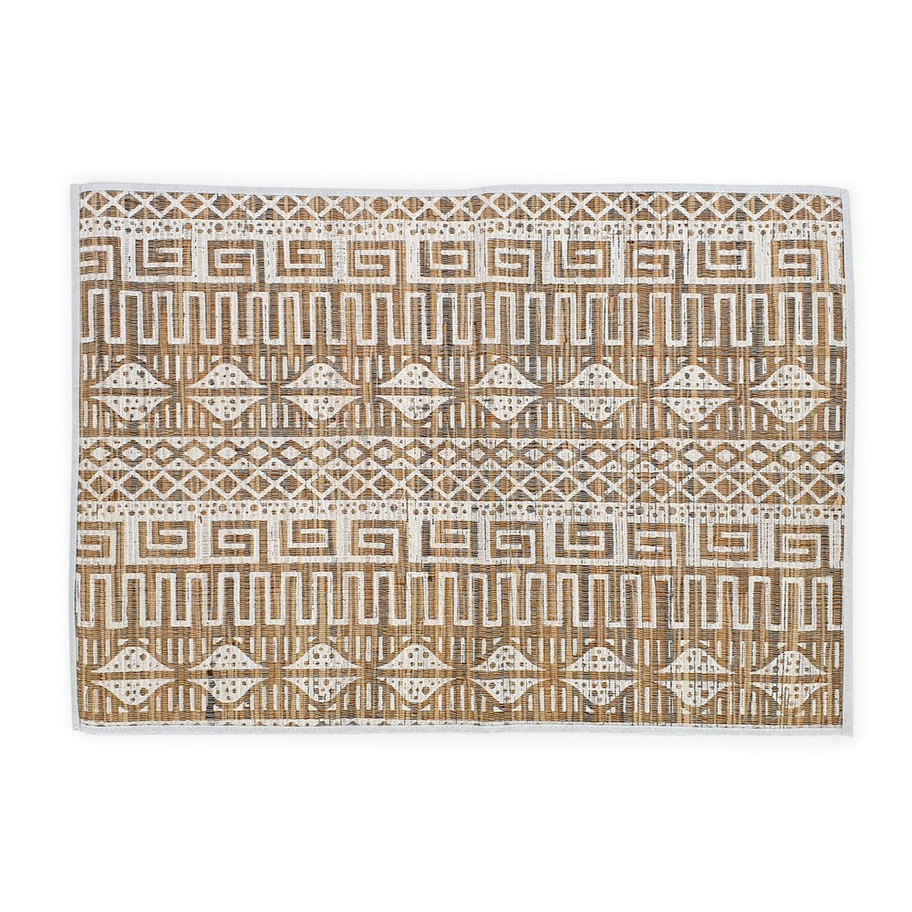 placemat natural white tribal