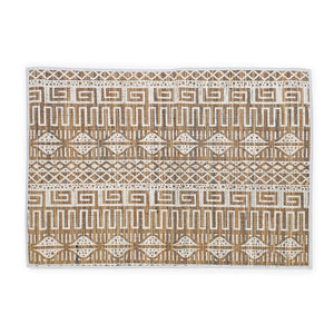 Load image into Gallery viewer, placemat natural white tribal