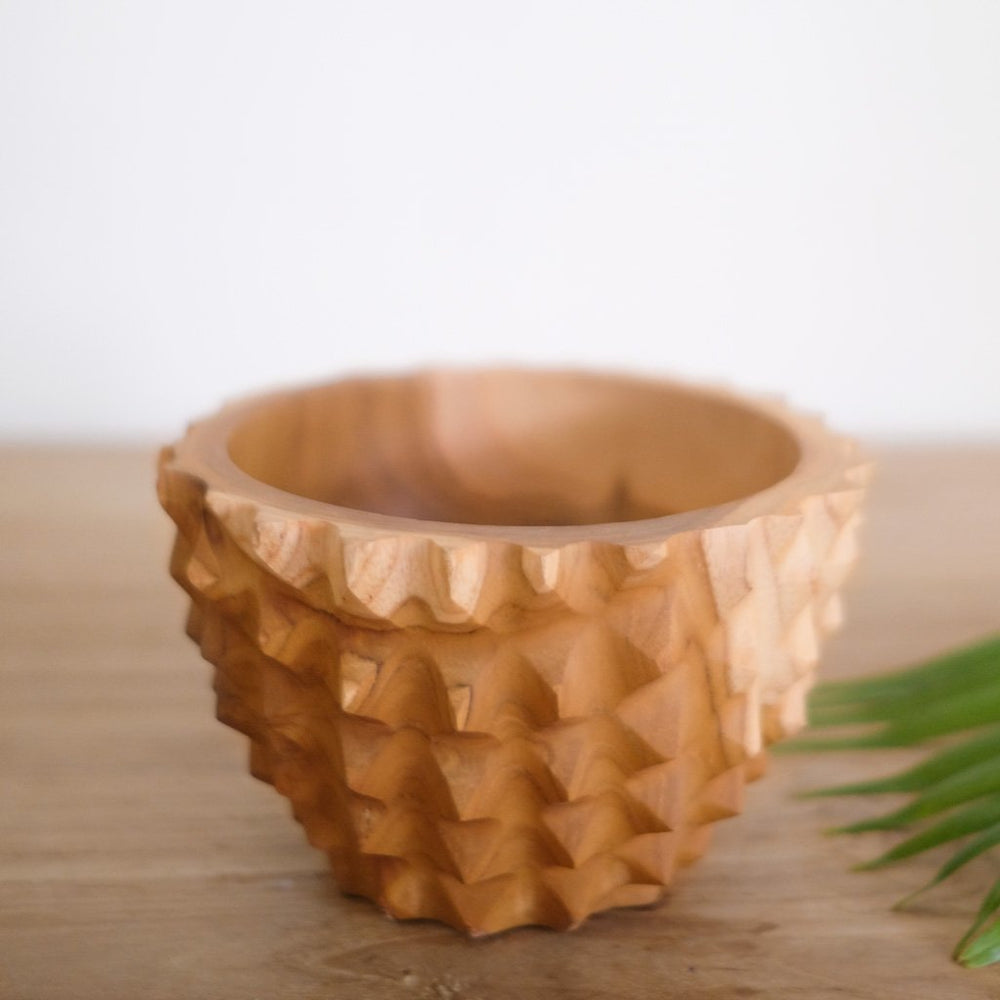 Wooden bowl Durian