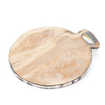 wooden cutting board round short