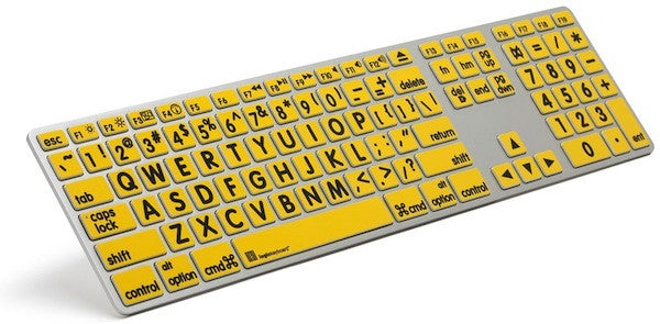 Image of ZoomText Apple Large-Print Keyboard For Mac - Black On Yellow