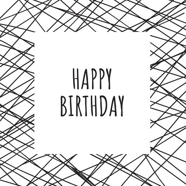 GREETING CARD - HAPPY BIRTHDAY LINES