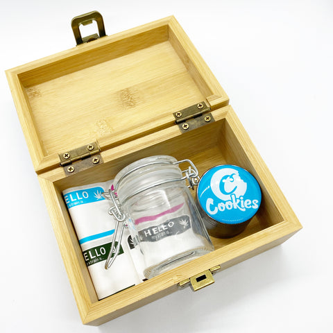 Small Wooden Stash Box Set-Assorted designs