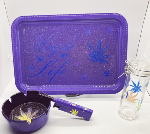High Life Rolling Tray Set