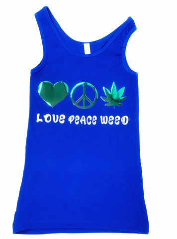 LOVE PEACE WEED Tank Top