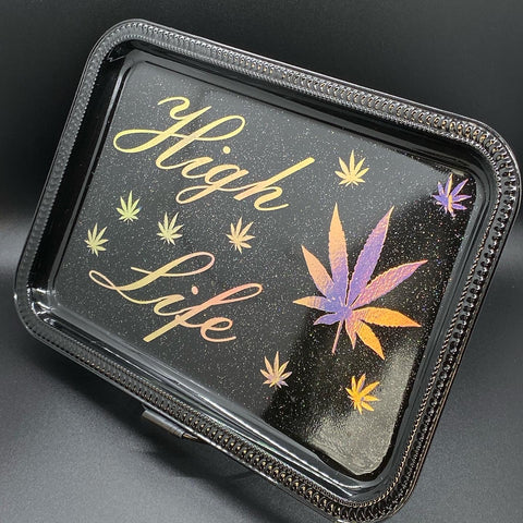 High Life Rolling Tray-Black