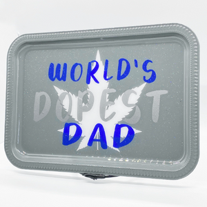 World's DOPEST Dad Rolling Tray Set