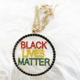 Black Lives Matter (BLM) Pendant and Chain
