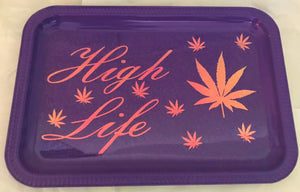 High Life Rolling Tray-Purple
