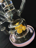 15'' 3D Bee Hive Glass Recycler Pipe Dab Rig with 3 Recycler Chambers