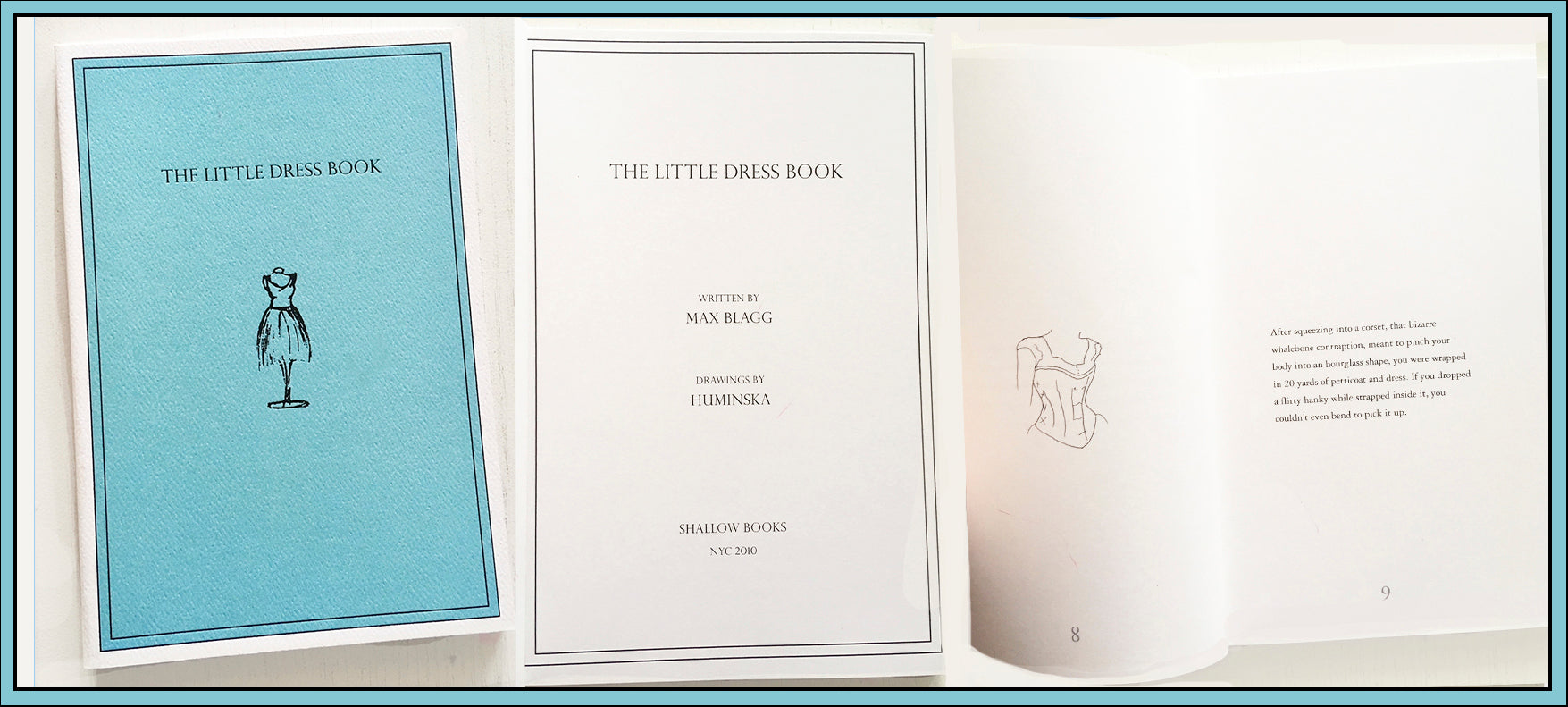 The Little Dress Book written by Max Blagg with drawings by HUMINSKA $20.00