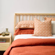 THREAD DESIGN Linen Cushion -Brick Flutter