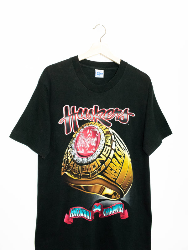Vintage Huskers National Championship T-shirt made in USA size: M
