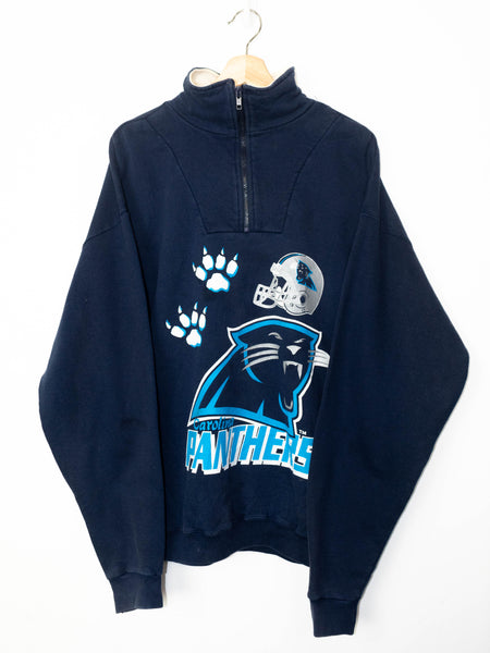 Vintage Panthers sweater 1/4 Zip size: L