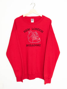 Vintage New London Bulldogs sweater size:L