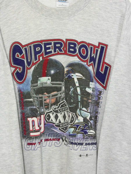 Vintage Super Bowl Giants x Ravens Sweater size: XL
