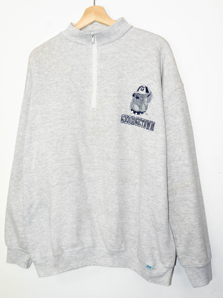 Vintage Georgetown sweater 1/4 Zip size: XL