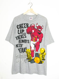 Vintage Chicago Bulls T-shirt made in USA size:L