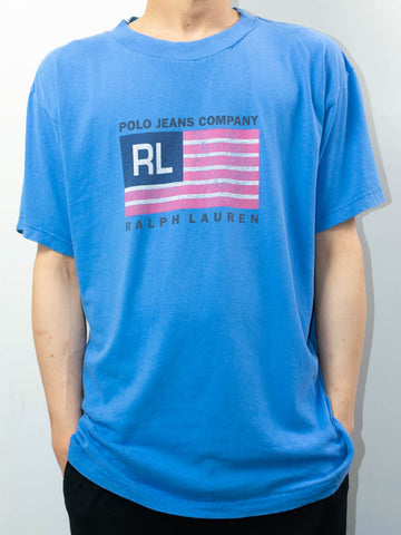 Vintage Polo Ralph Lauren T-Shirt Made in USA Size: L
