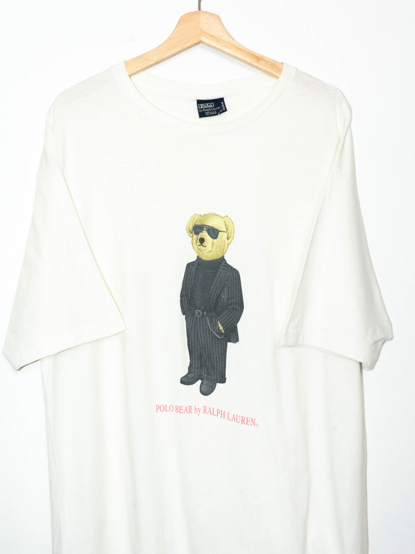 Polo Bear T-Shirt made in USA Size: L