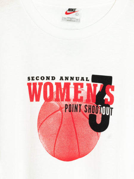 Vintage Nike Second Annual Women's 3 Point Shootout T-Shirt Size L