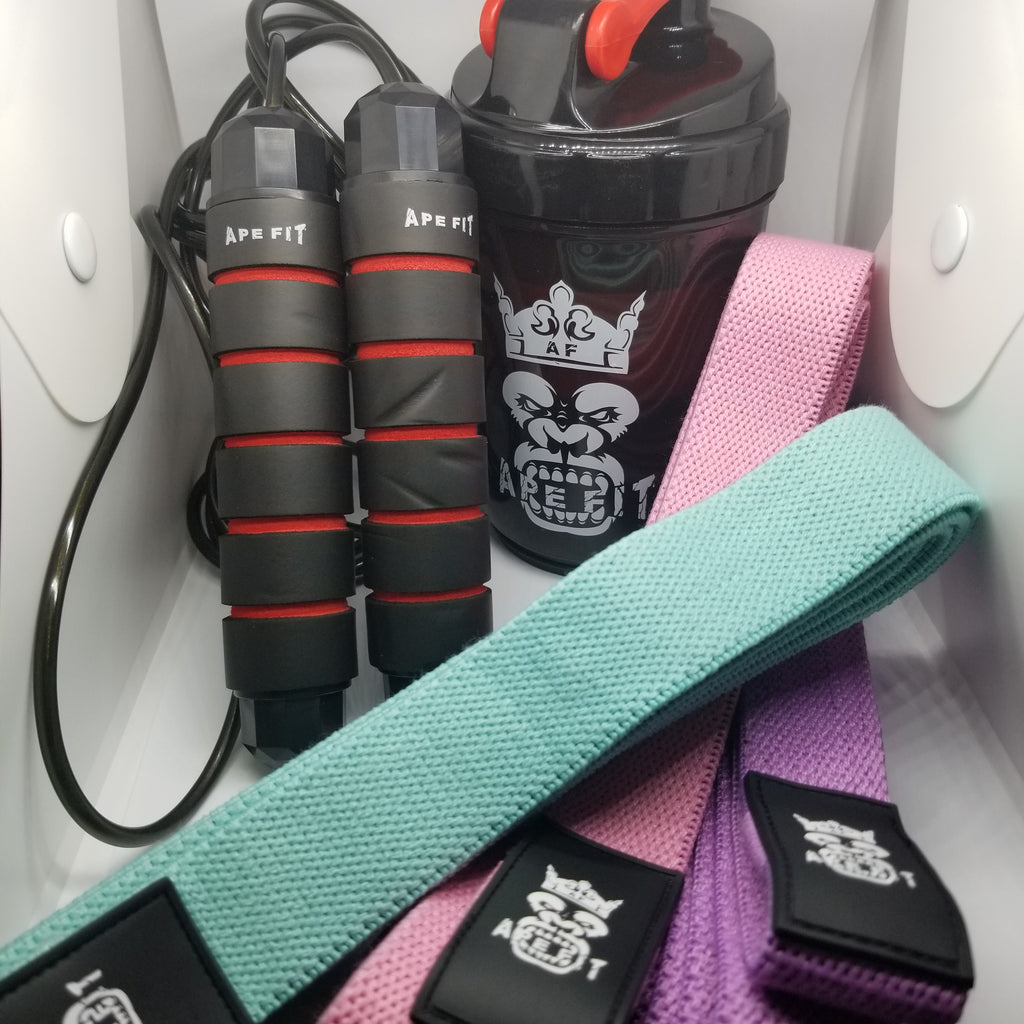 Jump Rope, Shaker Bottle, Bands