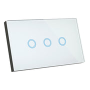 SMART WIFI ELITE GLASS WALL SWITCH 3 GANG - WHITE