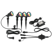 SMART WIFI BOTANIC RGB GARDEN LIGHT KIT (4-PACK) - BLACK