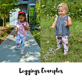 Purple vertical stripes kids Pearl Leggings