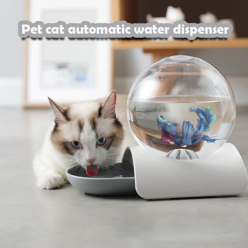 Gravity Waterer Feeder Pets Automatic Water Drinking Dispenser Fountain for Cats